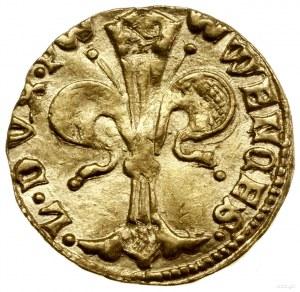 Floren (goldgulden), mennica Legnica; Aw: Lilia, WENCES...