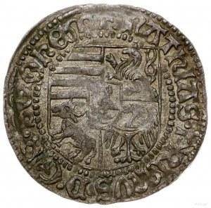 Grosz, bez daty (1470–1471), mennica Wrocław; Aw: Pięci...