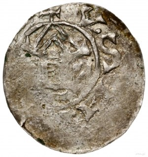 Naśladownictwo denara saskiego Ottona i Adelajdy; Aw: K...