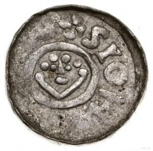 Denar, 1097–1107, mennica Wrocław; Aw: Monogram SI, BOL...