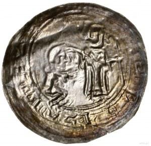 Brakteat absolucyjny, ok. 1113–1138; Św. Wojciech stoją...