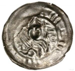 Brakteat hebrajski, 1195–1202, mennica Gniezno; Popiers...
