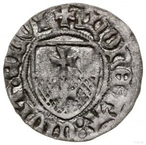 Szeląg, bez daty, Elbląg; Aw: Na tarczy Orzeł w koronie...