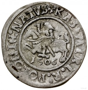 Grosz, 1506, mennica Głogów; Aw: Orzeł w koronie, + SIG...