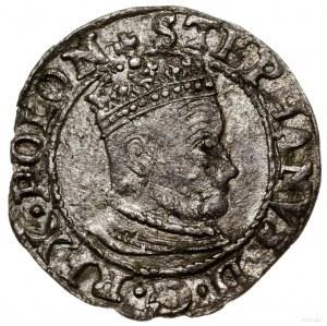 Grosz, 1579, mennica Olkusz; Aw: Wąskie popiersie króla...