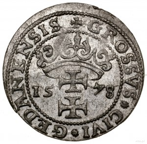 Grosz, 1578, mennica Gdańsk; odmiana bez gwiazdki po GE...