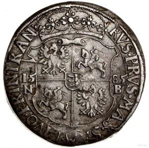 Talar, 1585 NB, mennica Nagybanya; Aw: Półpostać króla ...