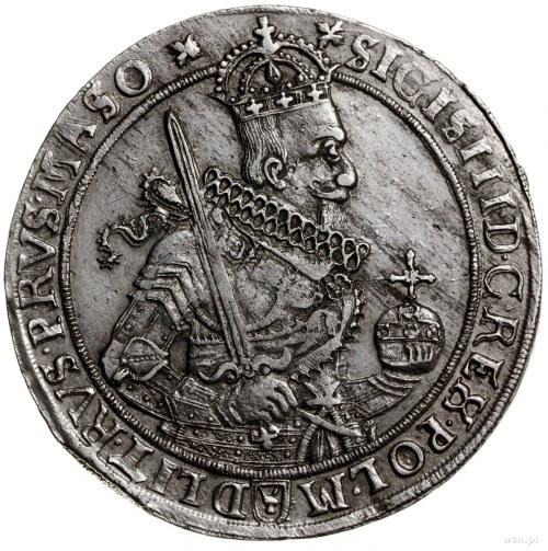 Talar, 1630, mennica Bydgoszcz; Aw: Wąska półpostać kró...
