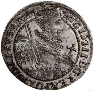 Ort, 1621, mennica Bydgoszcz; końcówka legendy na awers...