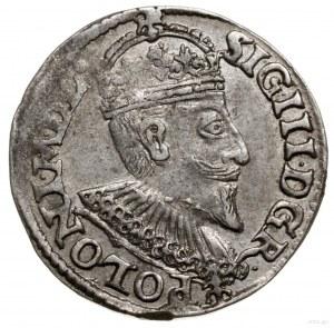 Trojak, 1595, mennica Olkusz; odmiana ze znakiem Ruszt ...