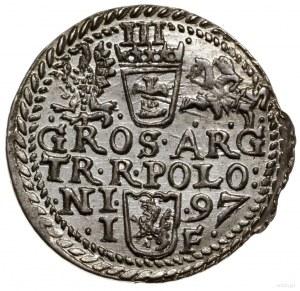 Trojak, 1597, mennica Olkusz; korona z wąskim rondem, n...