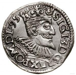 Trojak, 1595, mennica Wschowa; data na końcu legendy aw...