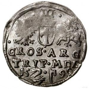 Trojak, 1599, mennica Wilno; na rewersie herb Łabędź (A...