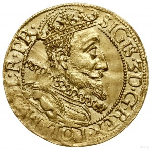 Dukat, 1612, mennica Gdańsk; Aw: Popiersie króla w praw...