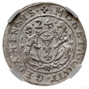 Ort, 1624, mennica Gdańsk; przebitka daty z 1623 roku, ...
