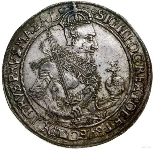 Talar, 1630, mennica Toruń; Aw: Półpostać władcy w praw...