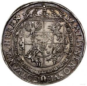 Talar, 1634, mennica Bydgoszcz; Aw: Półpostać króla w p...