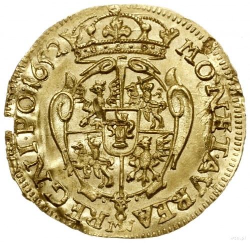 Dukat, 1652, mennica Wschowa; Aw: Popiersie króla w pra...