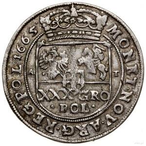 Tymf (złotówka), 1665, mennica Bydgoszcz; data na rewer...