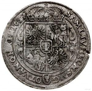 Ort, 1657 AT, mennica Poznań; końcówka legendy awersu M...