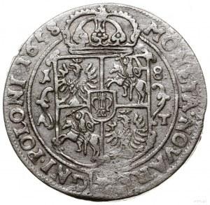 Ort, 1658, mennica Poznań; końcówka legendy awersu M D ...