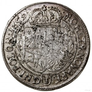 Ort, 1659 AT, mennica Poznań; końcówka legendy awersu S...