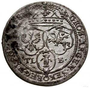 Szóstak, 1658 TLB, mennica Kraków; odmiana z literami T...