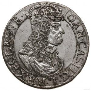 Szóstak, 1660 TLB, mennica Kraków; obwódki na awersie i...