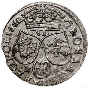Szóstak, 1662 NG, mennica Poznań; wariant bez obwódek n...