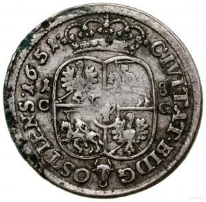 Ort, 1651, mennica Bydgoszcz; wariant z owalnymi tarcza...