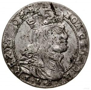 Szóstak, 1666 TLB, mennica Wilno; odmiana z kropkami po...