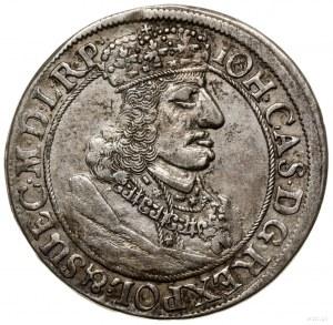 Ort, 1657 DL, mennica Gdańsk; odmiana z popiersiem z wi...