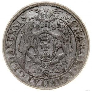 Ort, 1662 DL, mennica Gdańsk; na awersie końcówka PR, n...