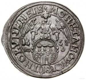 Ort, 1661, mennica Toruń; odmiana z napisem NOV CI, lit...
