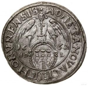 Ort, 1662, mennica Toruń; data przebita z roku 1661, na...