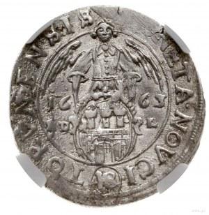 Ort, 1663 HD-L, mennica Toruń; popiersie z naramienniki...