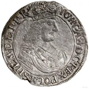 Ort, 1661, mennica Elbląg; Aw: Popiersie króla w prawo,...
