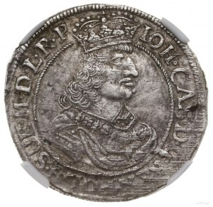 Ort, 1662, mennica Elbląg; Aw: Popiersie króla w prawo,...