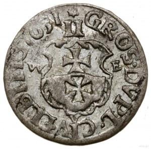 Dwugrosz, 1651, mennica Elbląg; gwiazdka nad nominałem,...