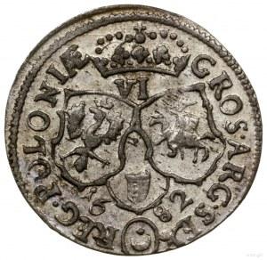 Szóstak, 1682, mennica Bydgoszcz; popiersie króla w wie...