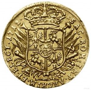 Dukat, 1712 EPH, Lipsk; Aw: Król na koniu w prawo, poni...