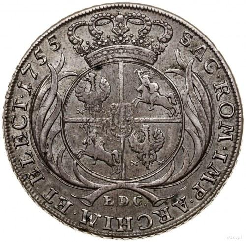 Talar, 1755 EDC, Lipsk; Aw: Popiersie króla zwrócone w ...