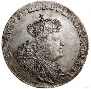 Złotówka (30 groszy), 1762, Gdańsk; odmiana z małym wie...