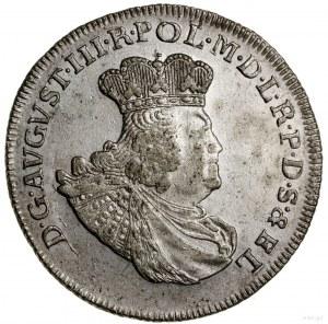 Złotówka (30 groszy), 1763, Gdańsk; wariant z bardziej ...
