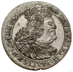 Szóstak, 1760, Gdańsk; odmiana z obwódkami, pod tarczą ...