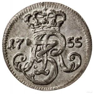 Trojak, 1755, Gdańsk; trojak 1755, Gdańsk; pod herbem G...
