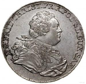 Talar, 1763, mennica Lipsk; Aw: Popiersie królewicza w ...