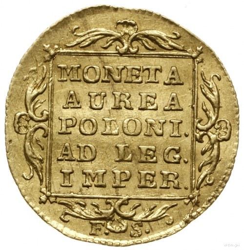 Dukat, 1766, Warszawa; Aw: Postać króla w stroju korona...