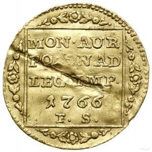 Dukat, 1766, Warszawa; Aw: Głowa króla zwrócona w prawo...