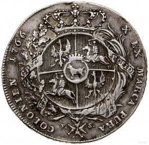 Talar, 1766 FS, Warszawa; Aw: Popiersie króla w zbroi, ...